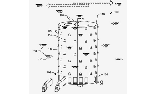 Amazon Patent Details Multistory Beehives for Drone Delivery Facilities