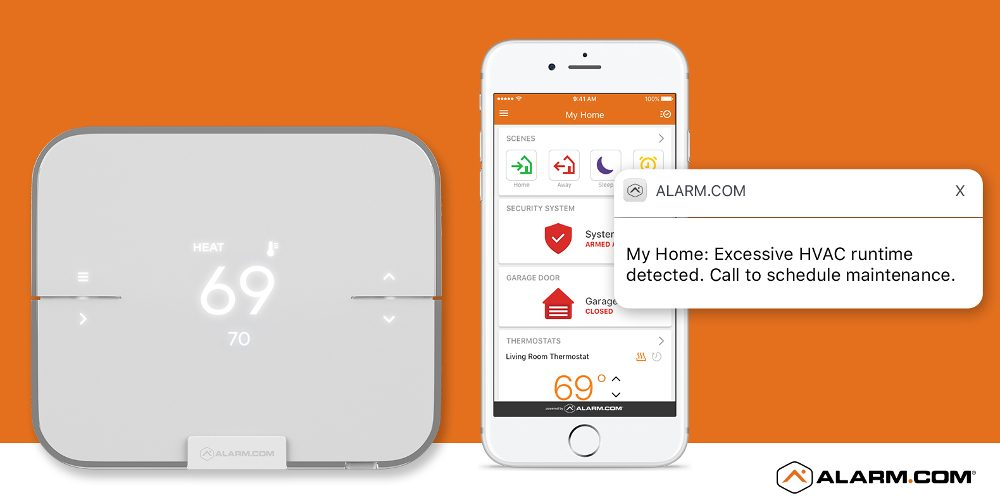 Alarm.com Smart Thermostat Combines Cloud Services, Machine Learning