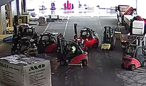 Top 7 Surveillance Videos of the Week: Forklift Drivers Halt Robbery