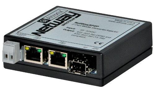 Altronix NetwaySP2P Converts 1 Fiber Cable Into 2 Ethernet Ports
