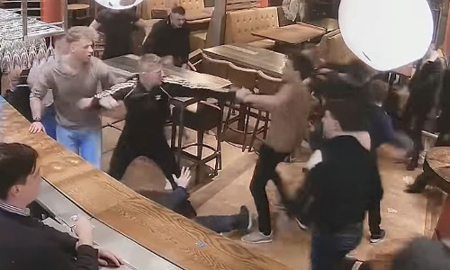 Top 9 Surveillance Videos of the Week: Brutal Barroom Brawl Erupts in England