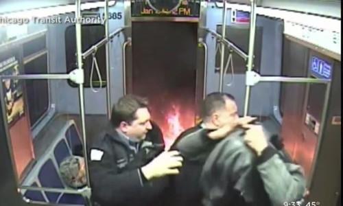 Top 9 Surveillance Videos of the Week: Man Starts Fire on Subway Train