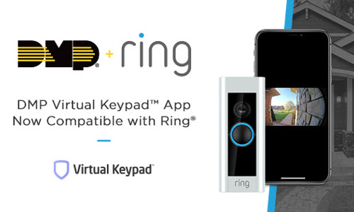 DMP Virtual Keypad Integrates With Ring Video Doorbell