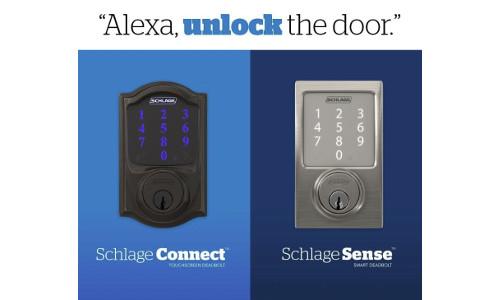 Alexa Voice Unlocking Skill Comes to Schlage Smart Locks