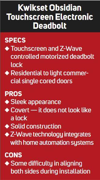 Review: Kwikset Obsidian Touchscreen Deadbolt Enlivens Door