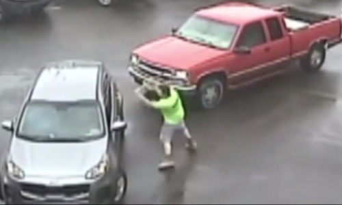 Top 9 Surveillance Videos of the Week: Angry Driver Attacks Car With Sledgehammer