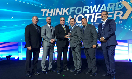 Fire Protection Specialist LVC Earns Notifier by Honeywell Million Dollar Award