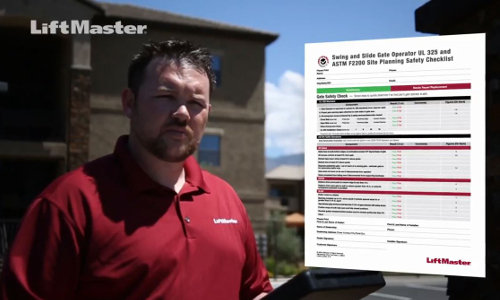 LiftMaster Releases Gate Safety Checklist Video for Installers