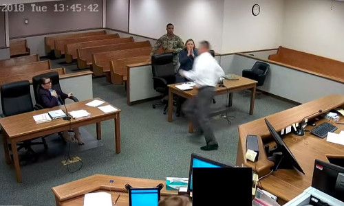 Top 9 Surveillance Videos of the Week: Judge Chases Prisoners Fleeing From Courtroom