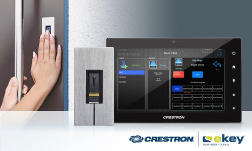 Crestron Introduces Biometric Fingerprint Door Entry With ekey Partnership