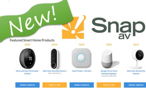 Google Smart Home, Nest Pro Products Now Sold by SnapAV