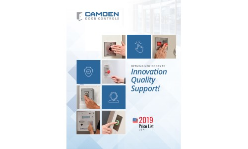 Camden Door Controls Releases 2019 Catalogs, Price Lists