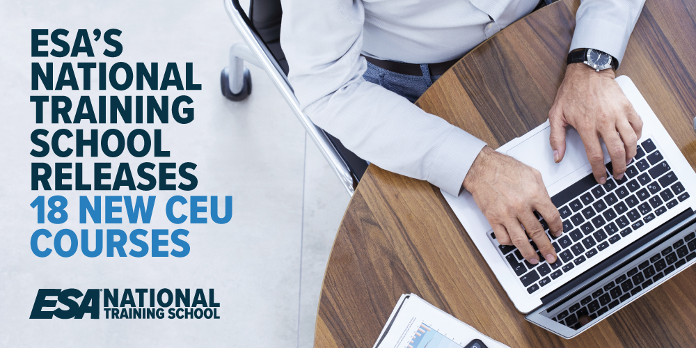 ESA's National Training School Releases 18 New CEU Courses: New Courses Cover Networking, Mathematics, Science, Project Management, Customer Service