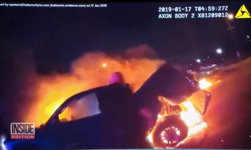Top 9 Surveillance Videos of the Week: Cops Rescue Woman Trapped in Burning Truck