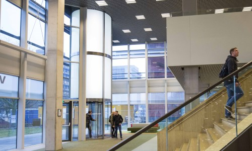 Why This Dutch University Needed a 30-Foot Revolving Door