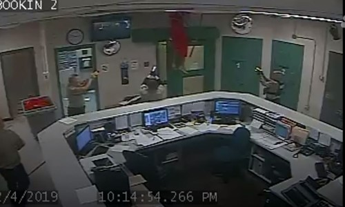 Top 9 Surveillance Videos of the Week: Inmate Falls Through Ceiling, Gets Tazed