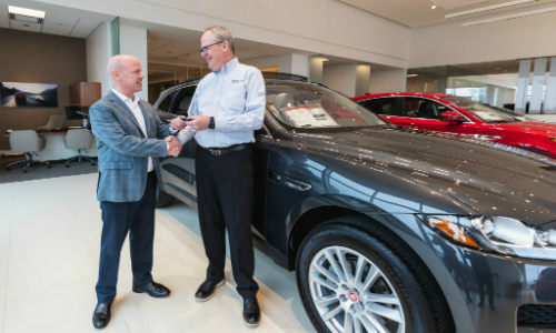 ADI Global Hands Over Keys for a New Jaguar F-Pace to Contest Winner