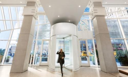 Times Square Hotel Installs Custom Boon Edam Revolving Door