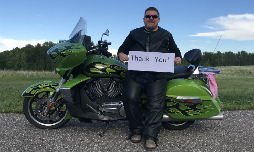 Hikvision Canada Regional Manager Rides Motorcycle for Kids Cancer Care