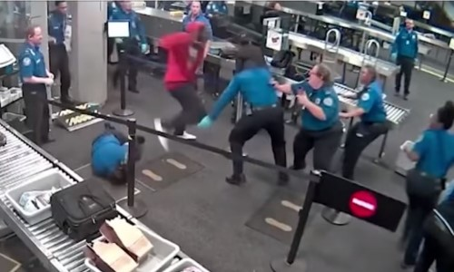 Top 9 Surveillance Videos of the Week: Teen Brawls With TSA Agents