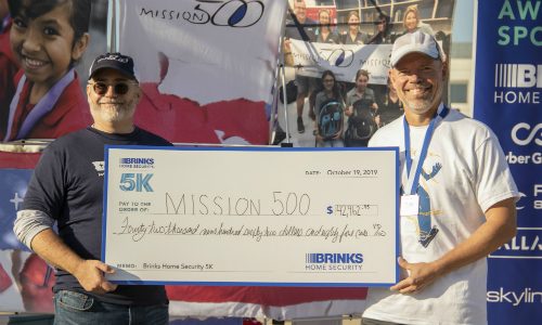 Brinks Home Security Annual 5K Raises $43,000 for Mission 500