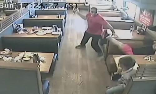 Top 9 Surveillance Videos of the Week: Man Goes on Rampage in IHOP