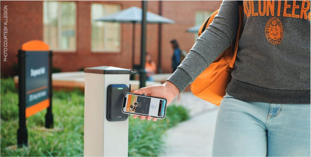 allegion access control on school campus