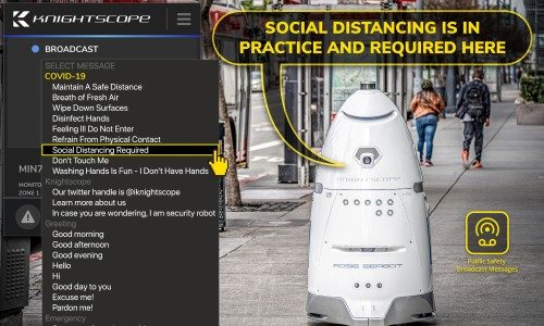 Knightscope Adds Coronavirus Public Safety Announcements to Security Robots