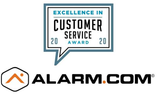 Alarm.com Wins 2020 Excellence in Customer Service Award