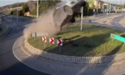 Top 5 Surveillance Videos of the Week: Car Goes Airborne After Hitting Rotary Island