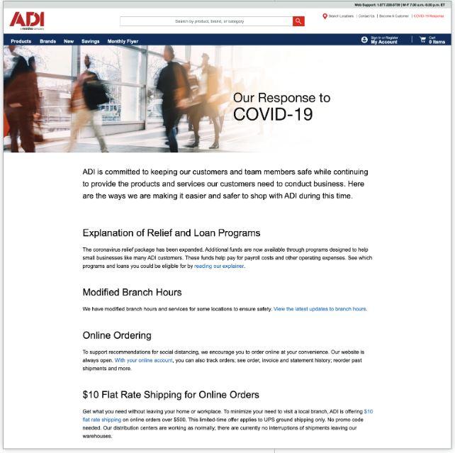 ADI Covid response