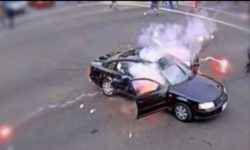 Top 5 Surveillance Videos of the Week: Driver Lights Firework, Protester Tosses It Back in Car