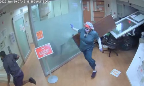 Top 5 Surveillance Videos of the Week: Car Plows Through ER Entrance
