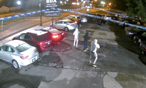 Top 9 Surveillance Videos of the Week: Thieves Jack 8 Cars From Dealership