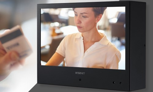 Hanwha Unveils Public View Monitors With Built-In Cameras