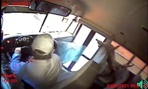 Top 9 Surveillance Videos of the Week: Deer Bursts Through School Bus Windshield
