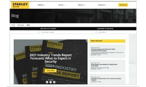 How Stanley Security Won the 2021 SAMMY Award for Best Overall Marketing Program (Large Company)