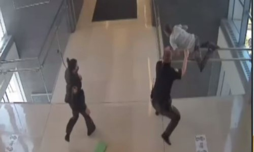 Top 9 Surveillance Videos of the Week: Convicted Felon Flees, Jumps Off Court Balcony