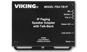 Read: Viking Releases Analog-to-IP Speaker Adapter With Talk-Back
