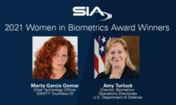 SIA Names Winners of 2021 Women in Biometrics Awards