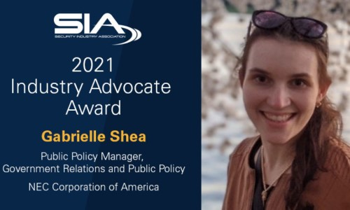 NEC Corp.'s Gabrielle Shea Named Recipient of 2021 SIA Industry Advocate Award
